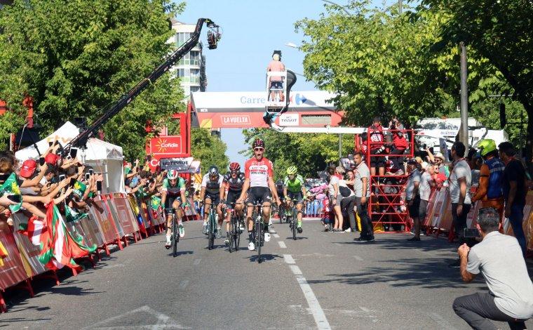 Imatge de l'arribada a Lleida