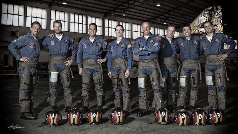 Imatge dels pilots de la patrulla Águila