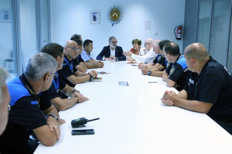 L'alcalde de Lleida, Fèlix Larrosa, i la regidora de Seguretat Ciutadana, Sara Mestres