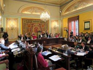 Imatge de la votació al ple de la Paeria