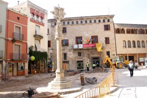 Imatge de les obres de la plaça