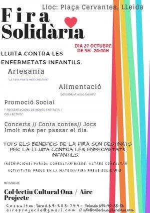 Imatge del cartell de la fira solidària