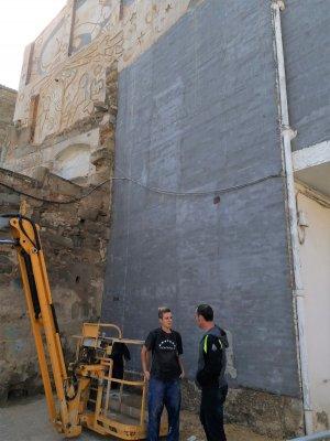 Imatge d'on s'ubicarà el mural