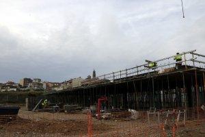 Imatge general de les obres de la nova escola d'Almenar