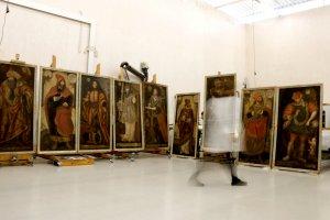 Les obres del Museu Diocesà al Centre de Restauració de Béns Mobles de Catalunya