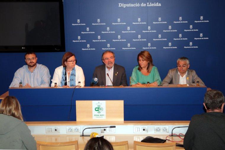 El president de la Diputació de Lleida, Joan Reñé