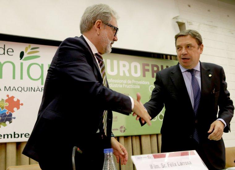 Imatge de Fèlix Larrosa amb el ministre Luis Planas
