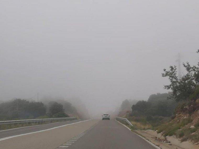 Imatge de la boira a l'agost a les Avellanes