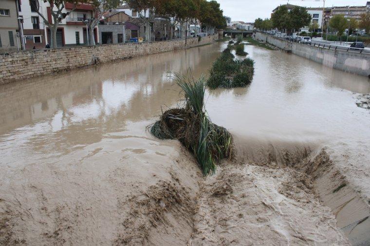 Imatge de la rubinada del riu Ondara