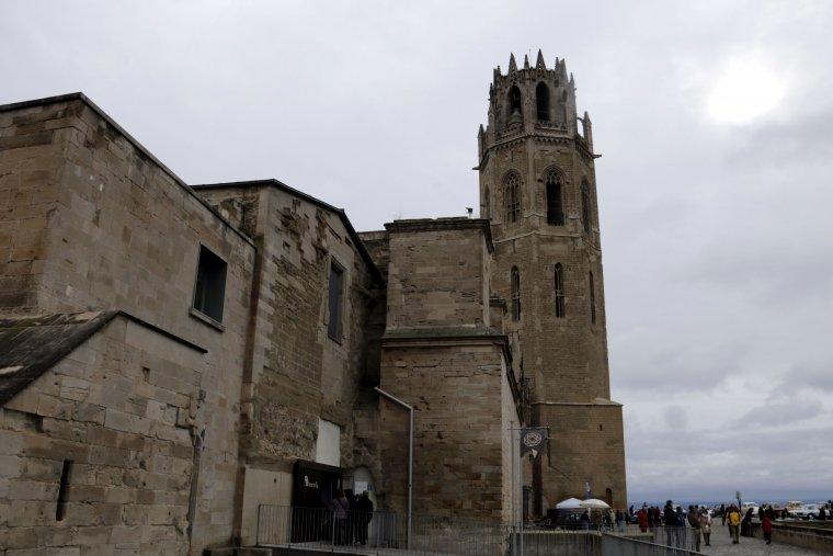 Imatge de la Seu Vella de Lleida en plena celebració del Dia de la Seu Vella