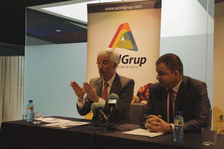 Imatge del director general d'ActelGrup, Fernando Chocarro (Esq)