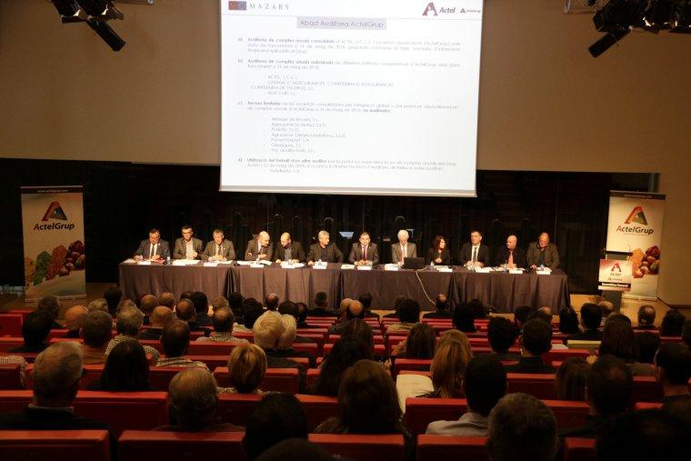 Imatge general de l'Assemblea General Ordinària d'ActelGrup a La Llotja de Lleida