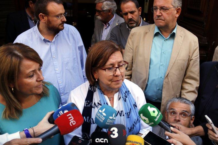 La vicepresidenta primera de la Diputació de Lleida i alcaldessa de Tàrrega, Rosa Maria Perelló