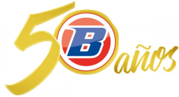 Logo de l'empresa en el seu 50 aniversari