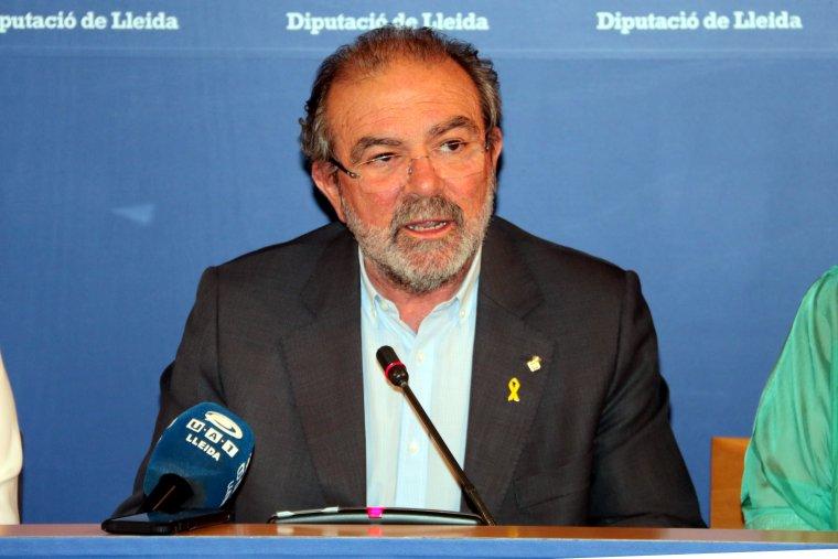 Pla mig del president de la Diputació de Lleida, Joan Reñé