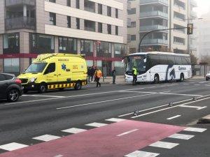Imatge de l'autocar accidentat