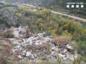 Imatge de l'esllavissada al Pallars Jussà