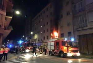 L'incendi s'ha registrat al carrer Cronista Muntaner de Lleida.
