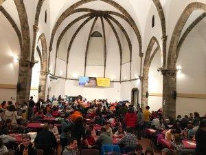 Pla general de l'interior de la sala Sant Domènec de la Seu d'Urgell, convertida aquest cap de setmana en una gran ludoteca
