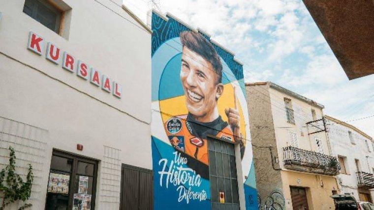 Imatge del mural de Marc Márquez a Penelles