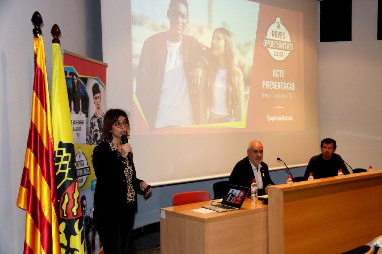 Pla general de la presentació del programa Noves Oportunitats a Tremp