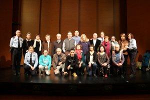 El grup de teatre amb Mossos d'Esquadra, a l'escenari del Caixa Fòrum de Lleida