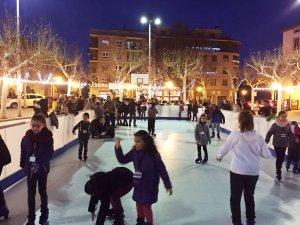 Imatge da la pista de gel de Solsona a l'aire lliure