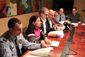 L'alcalde de Lleida, Fèlix Larrosa, amb altres autoritats