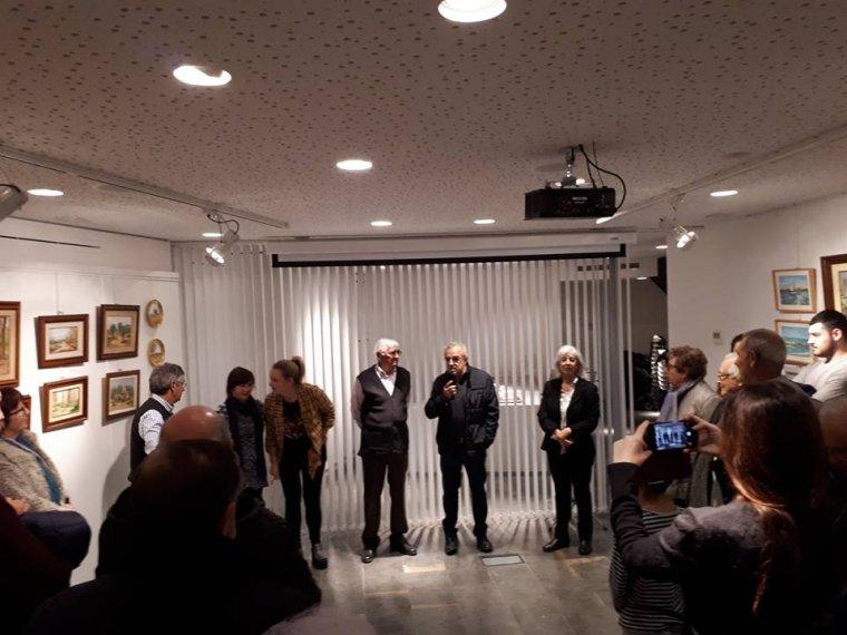 Imatge de la inauguració de l'exposició 'Records de Tardor' a l'Espai Macià de les Borges