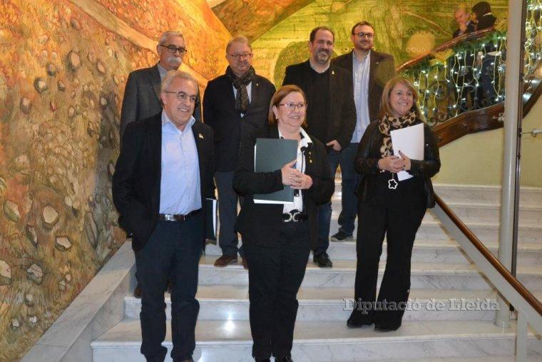Imatge de l'equip de govern de la Diputació de Lleida
