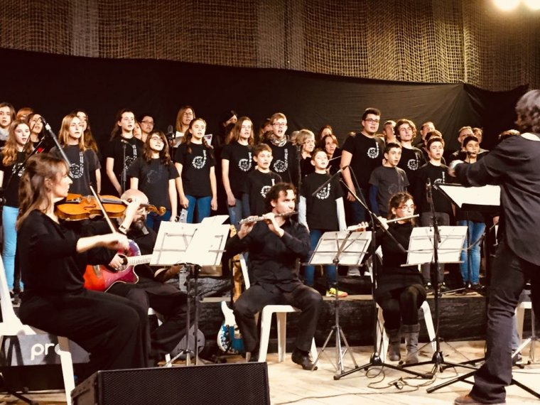Imatge del darrer concert de final de curs de l'Escola de Música de les Garrigues