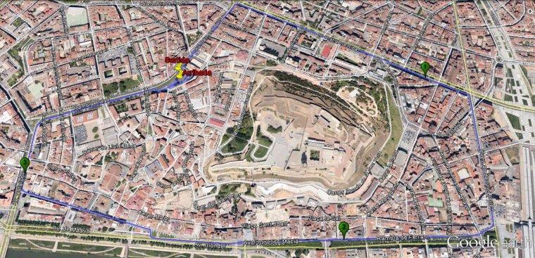 Imatge del mapa de la cursa curta