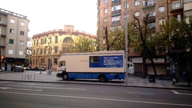 Imatge del mesurador de la qualitat de l'aire a Lleida