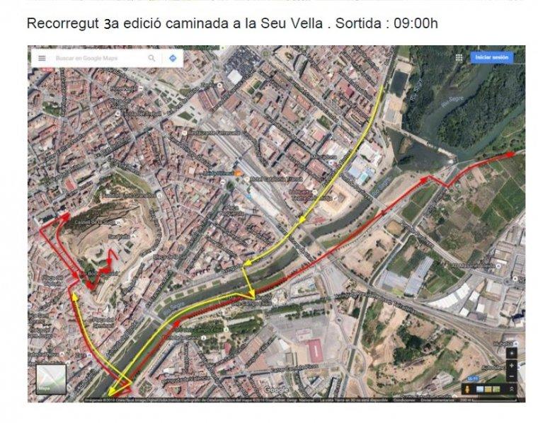Mapa de la caminada