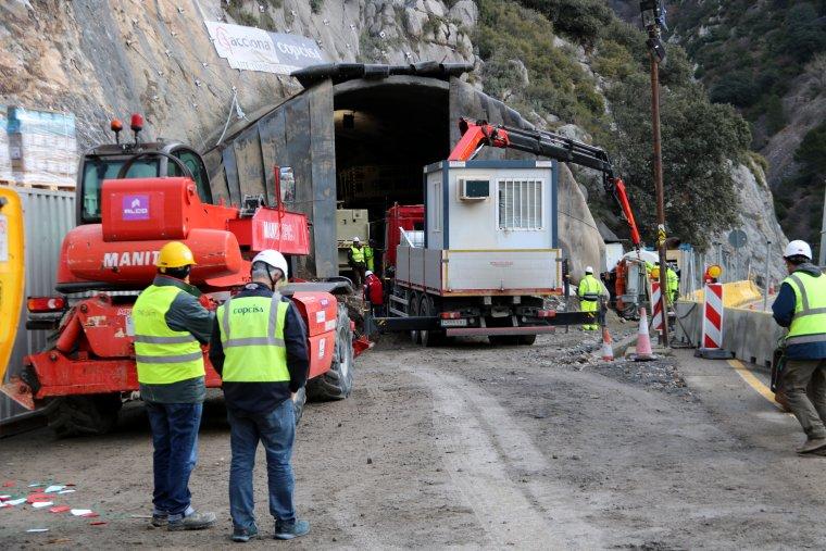 Pla general de les obres del túnel de Tresponts