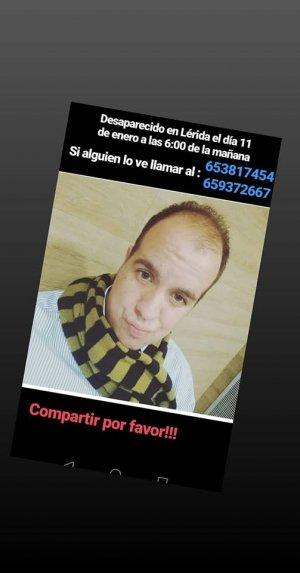 Home desaparegut Lleida