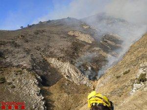 Imatge de l'incendi d'Arties