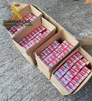 Imatge dels paquets de contraban