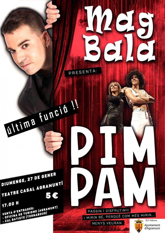 Cartell de l'última actuació del Mag Bala.