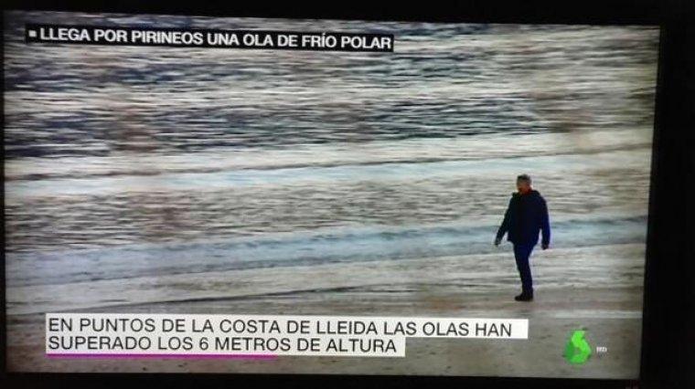Imatge de la suposada platja de Lleida