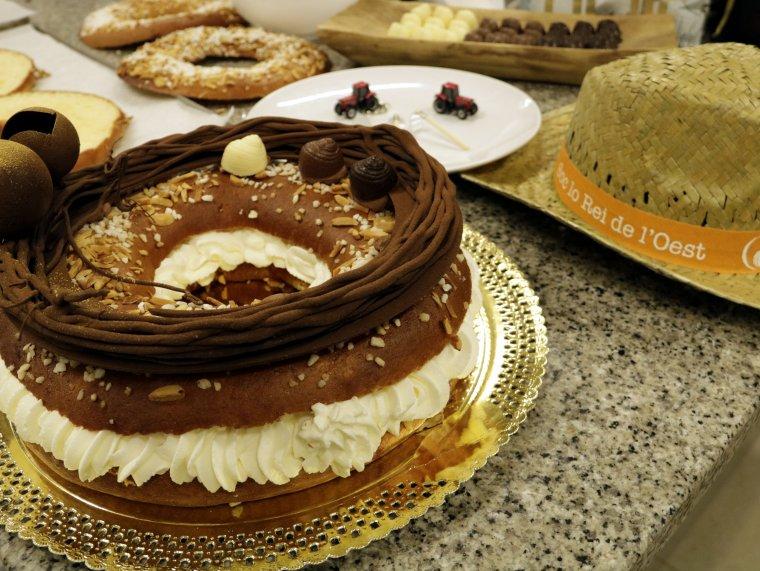 Imatge detall de 'Lo tortell de Lleida' creat pel xef i pastisser almenarenc Ivan Pascual