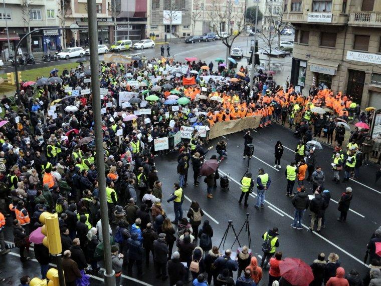 Manifestació a Lleida