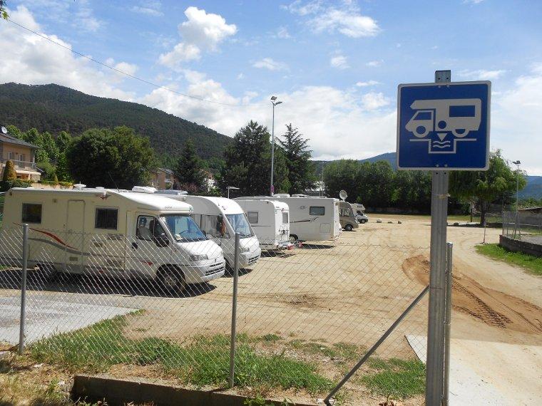 Pàrquing d'autocaravanes a la Seu d'Urgell