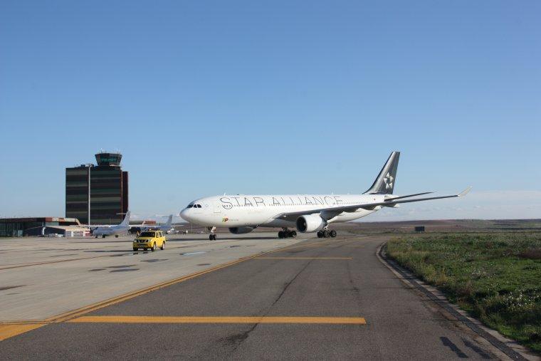 Airbus a l'aerport de Lleida-Alguaire