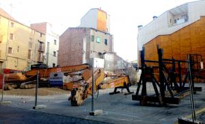 Maquinària al Centre Històric de Lleida