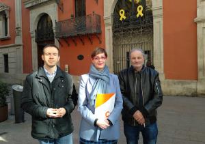 Imatge de tres regidors de C's Lleida