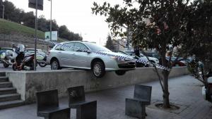 Imatge del cotxe de l'accident de Lleida