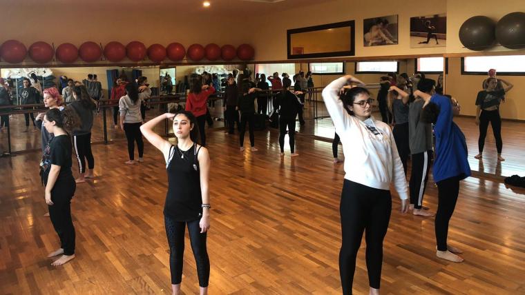 Assajos a l'escola de dansa Montse Esteve