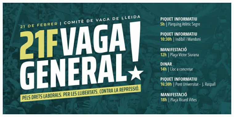 Cartell vaga a Lleida