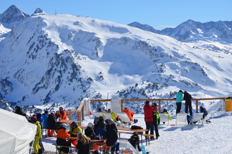 Esquiadors a Baqueira
